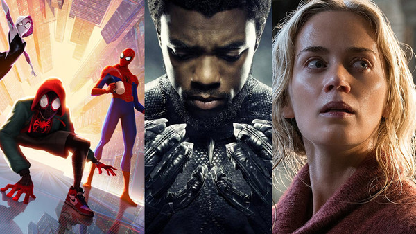 Spider Man Into The Spider Verse Black Panther A Quiet Place