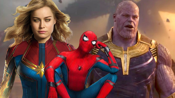 Thanos Captain Marvel Spider Man