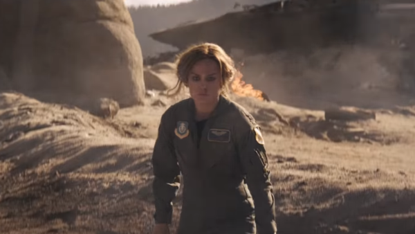 Captain Marvel trailer Carol Danvers crash injured