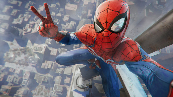 Spider Man PS4 Selfie