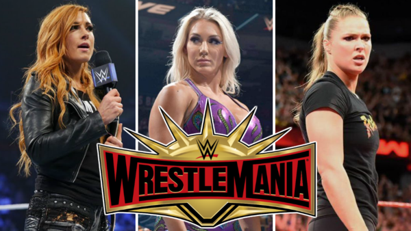 Becky Lynch Charlotte Flair Ronda Rousey WrestleMania