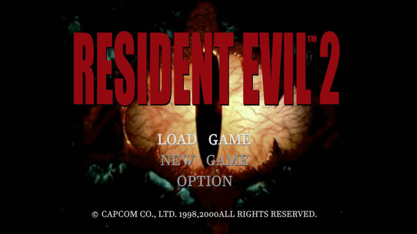 Resi 2 Original Title Screen