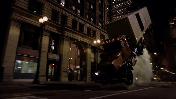 The Dark Knight Truck Flying