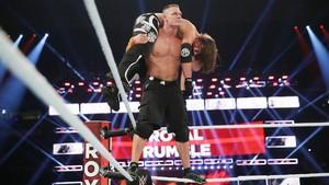 WWE Royal Rumble 2017 John Cena Super AA On AJ Styles