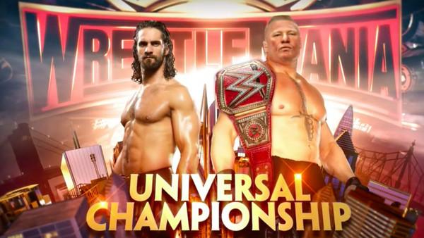 Brock Lesnar Seth Rollins WrestleMania 35