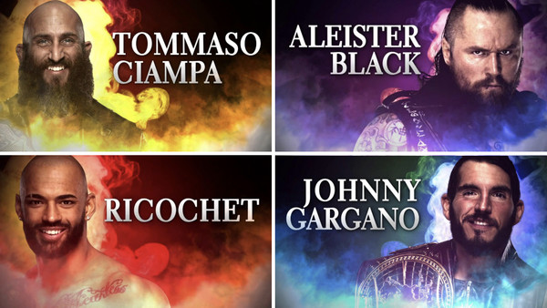 Tommaso Ciampa Aleister Black Ricochet Johnny Gargano