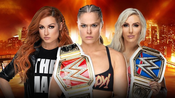 Becky Lynch Ronda Rousey Charlotte Flair WrestleMania 35