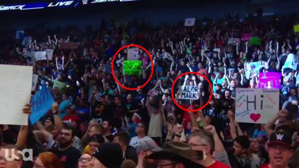 SmackDown Fan Signs
