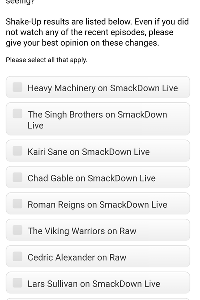 WWE Survey Viking Warriors