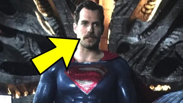Justice League Superman Mustache