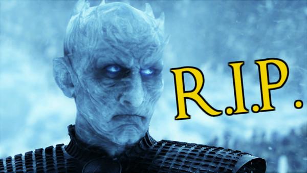Game Of Thrones Night King RIP