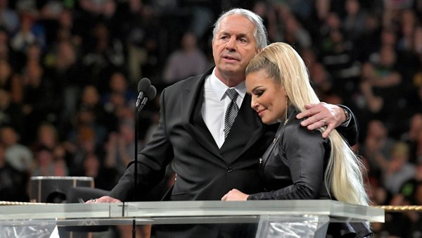 Bret Hart Natalya Hall Of Fame