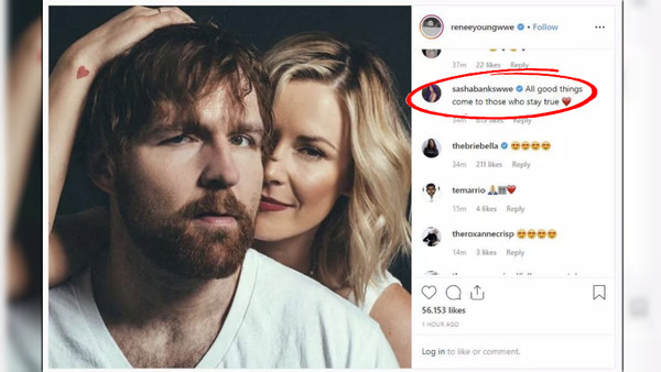 Sasha Banks Instagram Comment