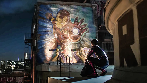 Spider Man Far From Home Iron Man Mural