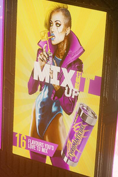 Transgender Billboard Cyberpunk 2077