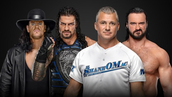 The Undertaker Roman Reigns Shane McMahon Drew McIntyre