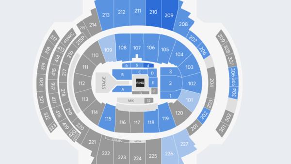 WWE SmackDown Ticket Map