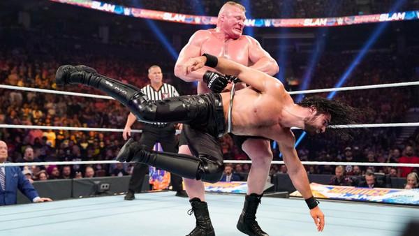WWE SummerSlam 2019 Seth Rollins Brock Lesnar