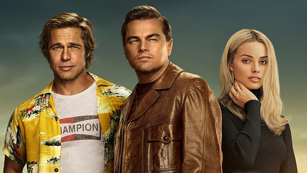 Once Upon a Time in Hollywood Brad Pitt Leonardo DiCaprio Margot Robbie
