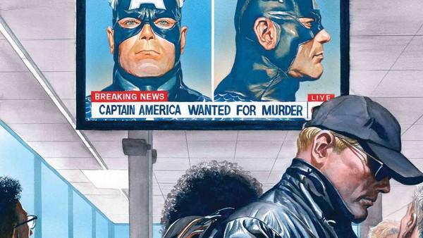 Captain America Hiding