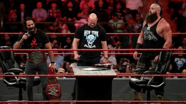 Seth Rollins Steve Austin Braun Strowman