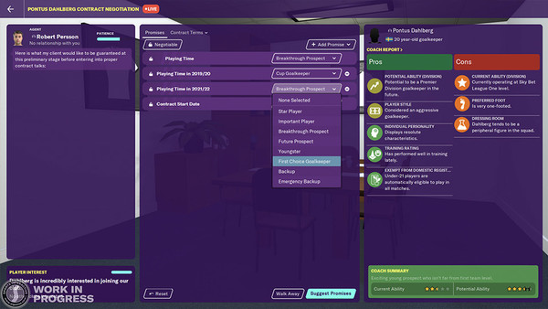 Football Manager 20 Contract