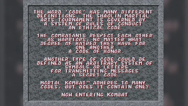 mortal kombat code