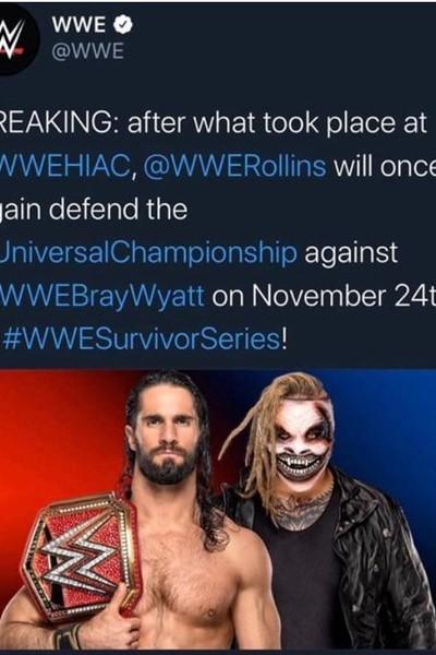 Fiend Rollins Match Announcement Tweet