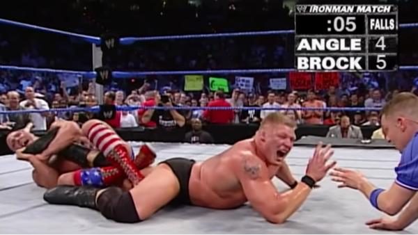Kurt Angle Brock Lesnar