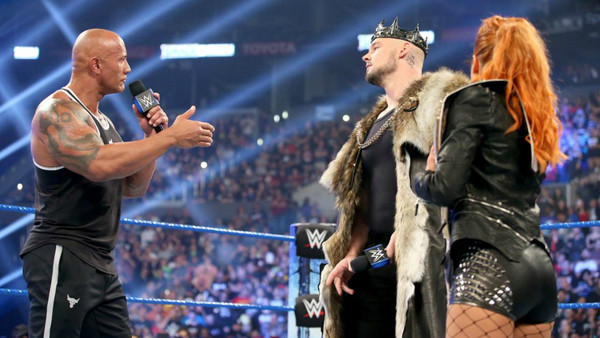 The Rock Becky Lynch King Baron Corbin