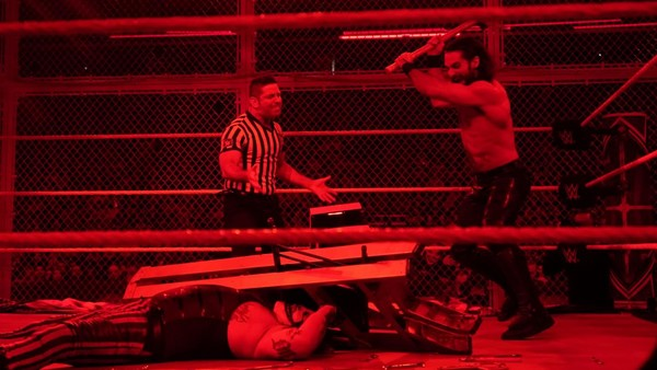 Seth Rollins Bray Wyatt Hell In A Cell