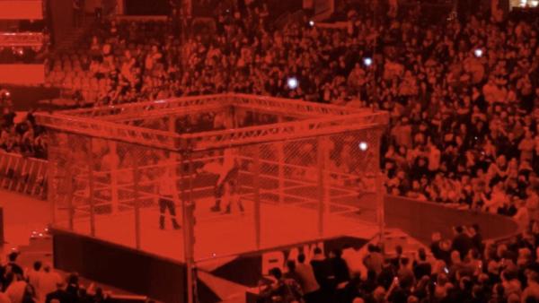 Weird red steel cage