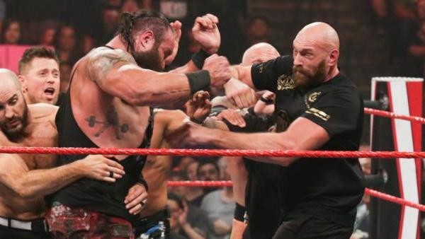 Tyson Fury risks reopening eye injury in WWE Raw appearance as he and Braun Strowman brawl in the ring with Wilder fight on the horizon
