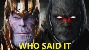 Who Said It Thanos Or Darkseid