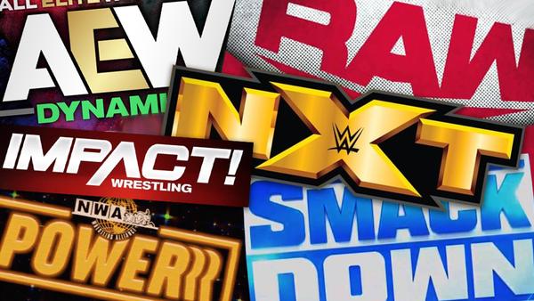 Wrestling show logos