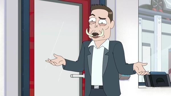 Rick and Morty Elon Tusk