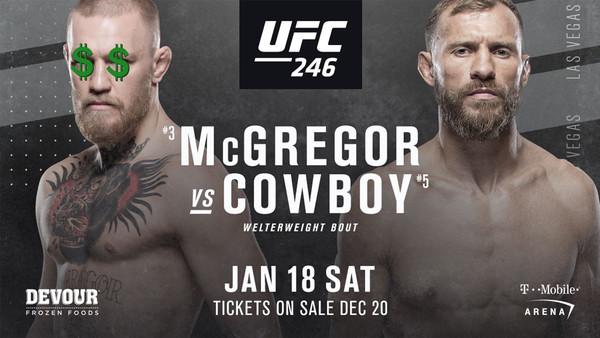 UFC 246 McGregor Cerrone