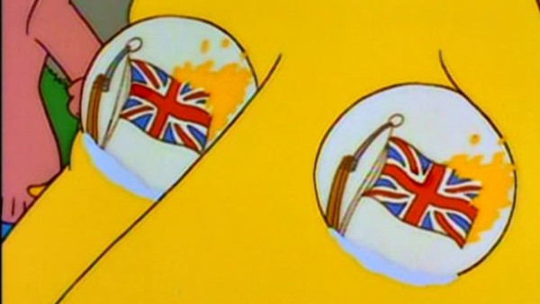 The Simpsons UK Flag
