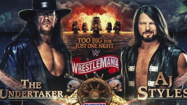 WWE The Undertaker AJ Styles WrestleMania