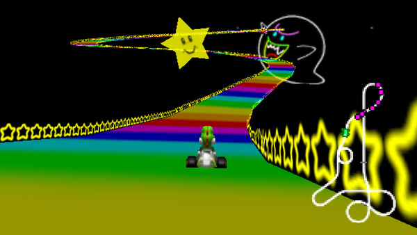 mario kart 64 rainbow road