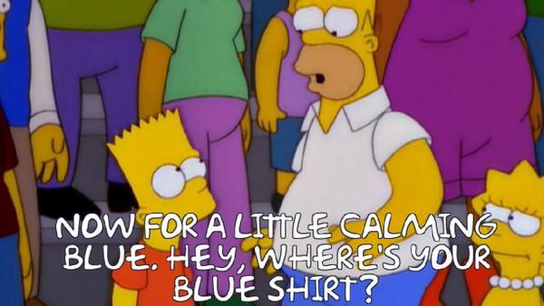 Bart Blue Shirt