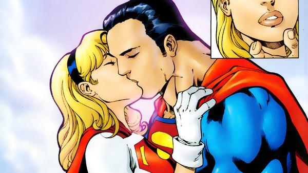 Superman Supergirl Kiss