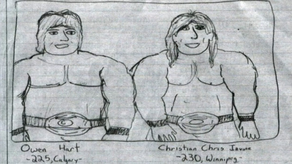 Which AEW Star Drew These Pictures Of Owen Hart?