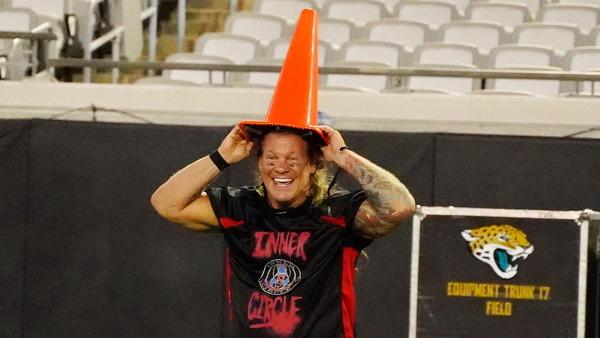 Chris Jericho parking cone