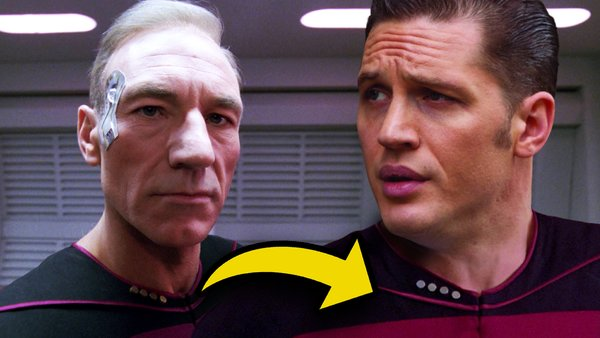 Tom Hardy Patrick Stewart Picard Star Trek Next Generation