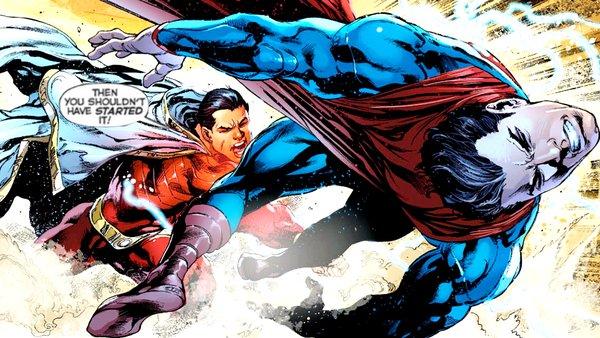 Superman Shazam Fight New 52