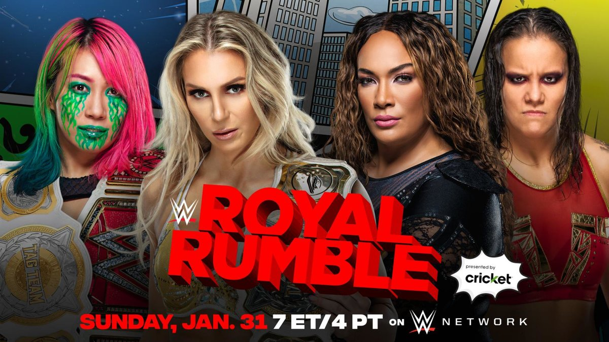 The WWE Women's Tag Team Championships will be on the line at the Royal Rumble