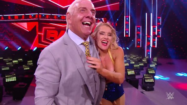 Ric Flair Lacey Evans WWE Raw