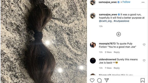 Samoa Joe hair instagram