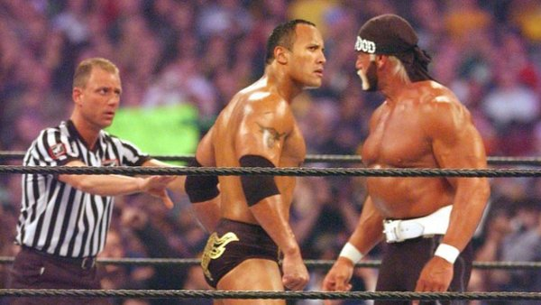 The Rock Hulk Hogan Mike Chioda